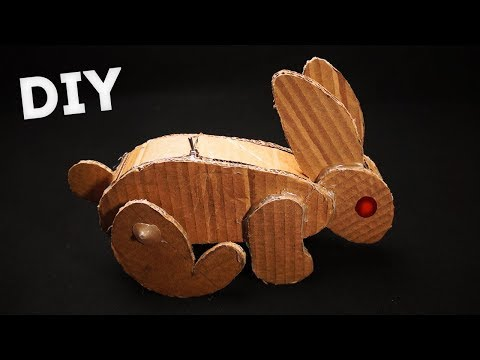 DIY Eletric Rabbit Robot from cardboard