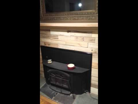 Fireplace mantle made with re purposed material