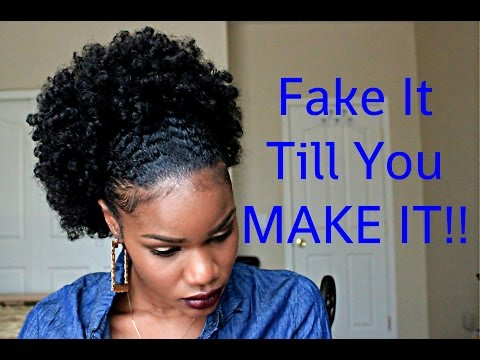 Fake It Till You Make It GIRL!! Go From TWA to a Large Fro Puff in Mins! | SistaWigs.com