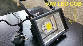 How to Convert a Halogen Floodlight with an LED Chip