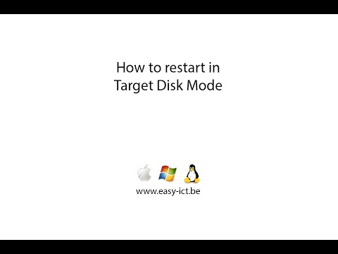 How to boot your mac in Target Disk Mode