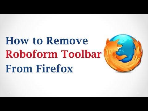 How to Remove RoboForm Toolbar from Mozilla Firefox