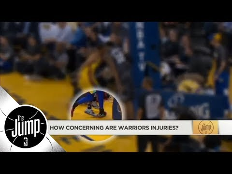 Klay Thompson out with broken thumb: Are Warriors' injuries concerning? | The Jump | ESPN