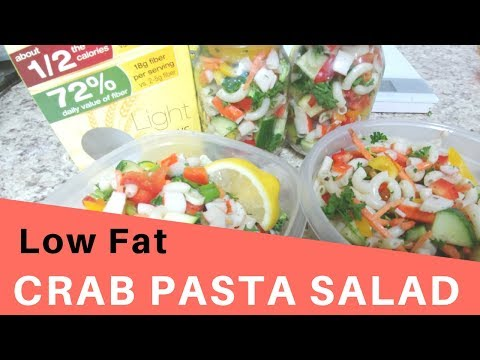Pasta Salad | Low Fat Crab Pasta Salad Recipe for Weight Watchers - 2SP (2 cups)