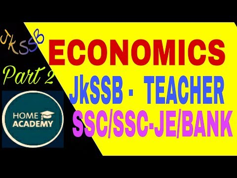 Economics part 2 national income GDP,GNP,NNP for SSC ,JKSSB by home academy