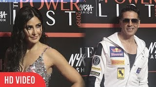 Khiladi Akshay Kumar And Gorgeous Katrina Kaif at Nykaa Fashion and Vogue India THE Power-List 2019