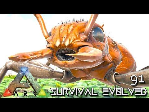 ARK: SURVIVAL EVOLVED - GIANT ANT RIDEABLE PRIME TITANOMYRMA E91 !!! ( ARK EXTINCTION CORE MODDED )