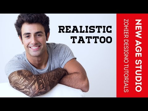 Easy Realistic Tattoo in Photoshop cc 2018