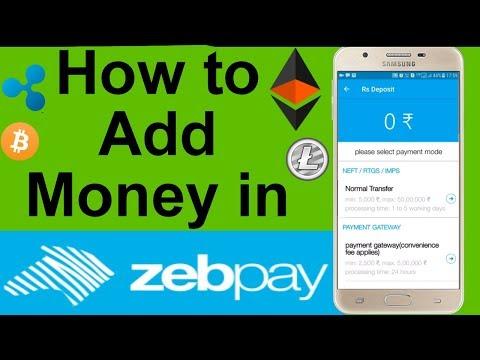 How to Deposit Money in Zebpay Using Paytm