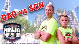 Beckstrand Mohawk Ninja DAD VS. SON   American Ninja Warrior Junior   Universal Kids