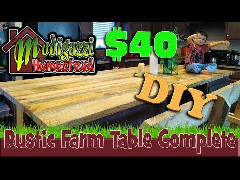 Completing our Rustic Wooden Counter-Top DIY Project for less than $40