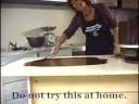 Making chocolate scrolls