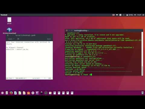 Test Your Internet Connection with Terminal On Ubuntu