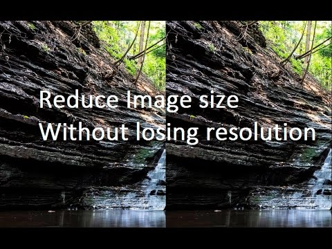 How to reduce Image size without losing resolution