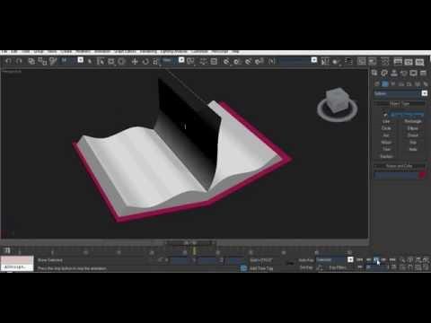 3dsmax -  Basic Page flip  animation