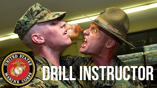 British Army Soldier Reacts to USMC Drill Instructors (Shouting)