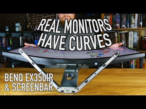 Best Looking Curved Monitor? | BenQ EX3501R & ScreenBar Lamp