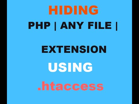 how to hide php | any file | extensions from url