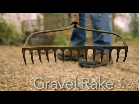 How to Use a Gravel Rake : Garden Tool Guides