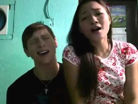 Hanggang ngayon - covered by a couple (Filipina girl and her Foreigner boyfriend)