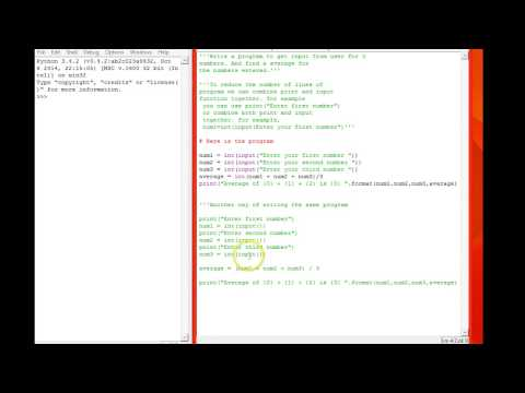 Python Simple Average program