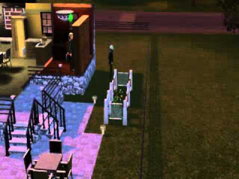 The Sims 3 Supernatural - Testing Out Fenced Garden - Protected from zombies