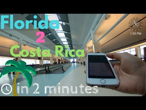 Florida to Costa Rica in 2 Minutes (Time Lapse)