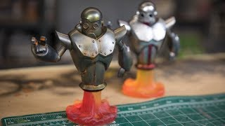Painting Robot Kits to Look like Rusted Metal!