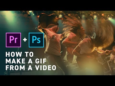 How To Make A Gif From A Video (Premiere & Photoshop)