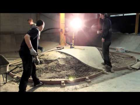 Skatehouse bowl build