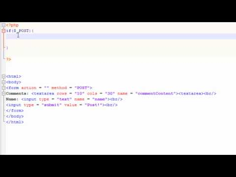 How to create a simple comment system in PHP