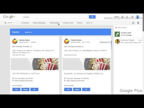 Google+ - How To View Most Recent Events