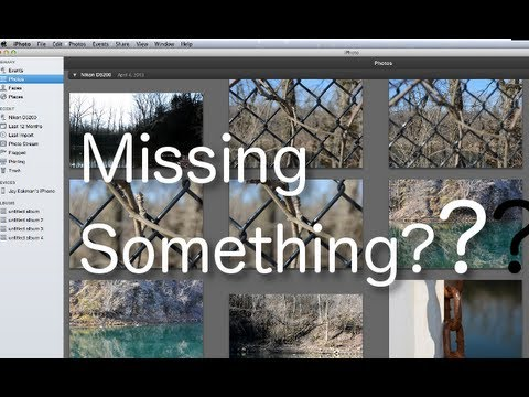 How to recover missing pictures in iPhoto