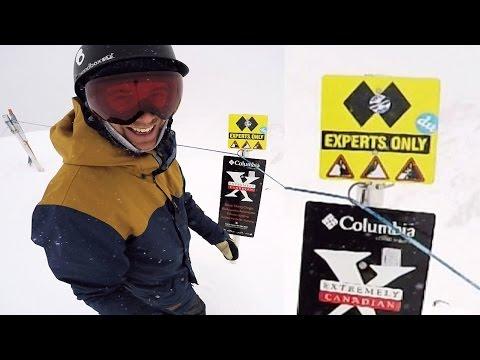 How To Survive a Double Black Diamond - Big Mountain Snowboarding
