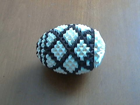 How to make 3d origami Easter large egg