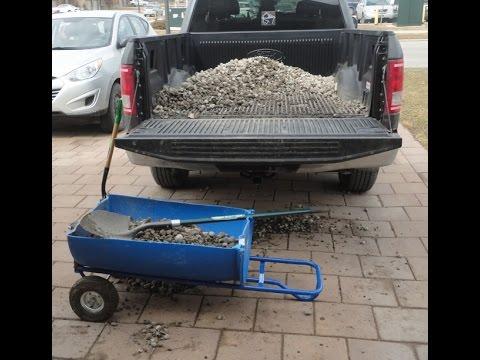 Turn a plastic barrel into a wheelbarrow