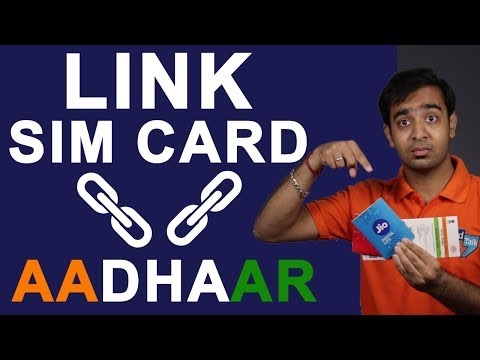 How To Link SIM Card with Aadhaar Card | Process of Mapping Mobile Number To AADHAAR Number | Hindi