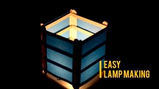 "How to make a mini candle lamp | Turn ice cream sticks to beautiful lamp/lantern | Life Hacks |"""
