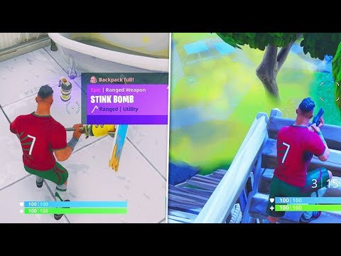 NEW Fortnite 'Stink Bomb' Grenade Gameplay! NEW Stink Bomb Update Gameplay in Fortnite Battle Royale