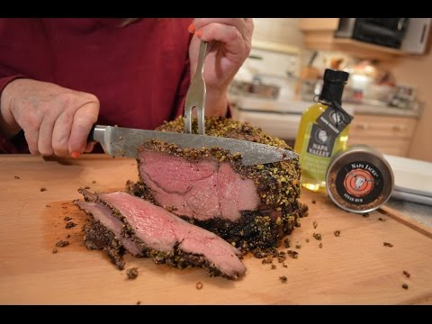 How to Cook Napa Valley Pistachio Crusted Sirloin Tip Roast of Beef: Cooking with Kimberly