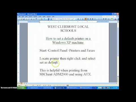 WCLSD - Set Default Printer