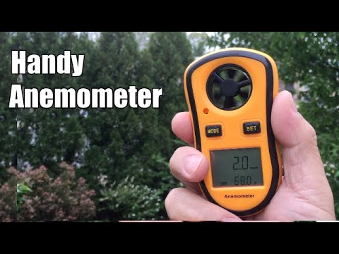 Review of Leaton Portable LCD Digital Anemometer Wind Speed Meter (DL8908)anemo