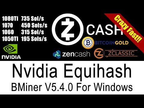 BMiner Fastest ZCash Equihash Miner For Windows. Faster than EWBF & DSTM.