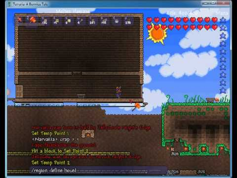 Terraria - Tshock - Protecting buildings