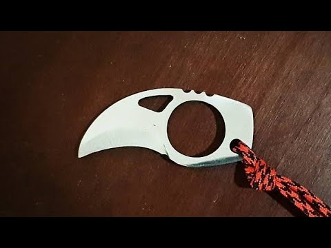 Making a Claw - Ring Knife from an old circular saw blade