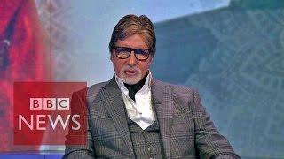 Amitabh Bachachan tackles India
