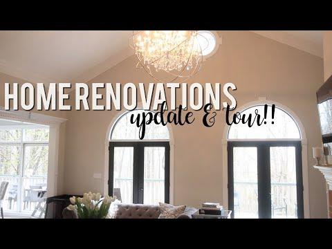 Home Renovations: 6 Week Update + House Tour #HouseToHome!!