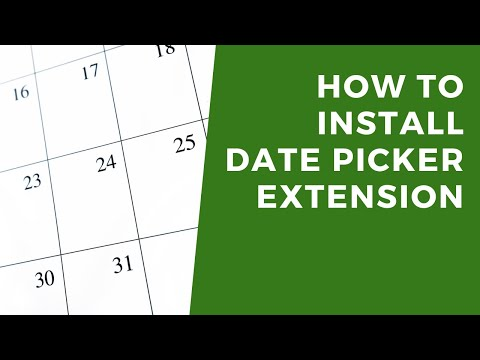 How to install the DatePicker extension for Excel