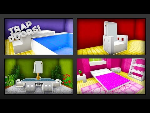 Minecraft - 5 Things To Make With Trapdoors