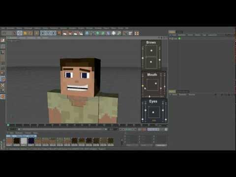 Minecraft 3d Character + Facial Rig - Cinema 4d